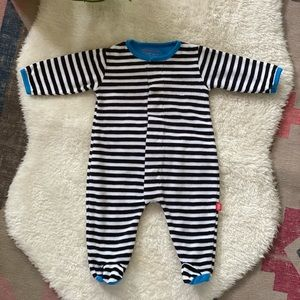 Magnetic Me | Striped Baby Footie Pajama 0-3